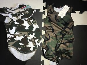 2 camo onesies baby girl 6-12M NEW w/tags