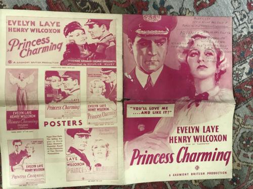 "Princess Charming(Alexandra) 1934 GB 12x18"" pressbook Henry Wilcoxon Evelyn Laye"