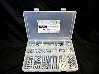 334 Piece Grade 5 Coarse Bolt Nut Washers Assortment With Plastic Box