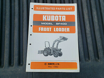 Kubota Bf400 Front Loader Illustrated Parts List Manual 07909-51960 583