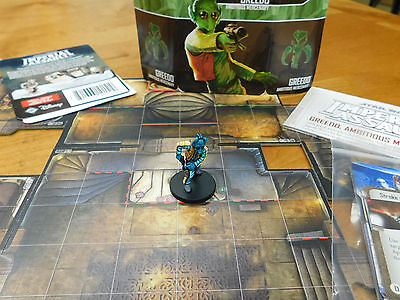 Well Painted Star Wars Imperial Assault Fantasy Flight Greedo Villain Pack