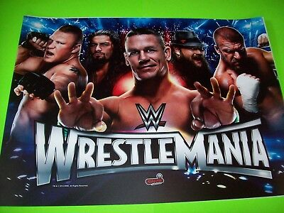 WRESTLEMANIA Pinball Machine Translite 2015 Original NOS Artwork Wrestling Theme