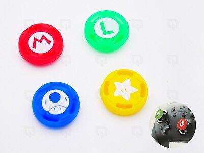 4x Nintendo Pro Controller NSX Switch Mario/Red/Yellow Cap Thumb Grips Joystick