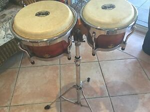 Mano Percussion Bongos with floor stand Noosaville Noosa Area Preview