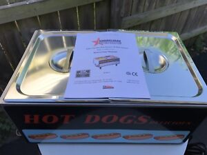 Commercial Hotdog steamer and bun warmer