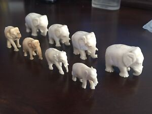 Lot of 20th century Indian ivory elephants