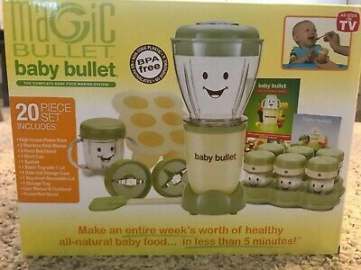 Magic Bullet - Baby Bullet - Baby Food Maker 20 Piece Set Baby Care System