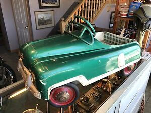 1940's Chain Drive Pedal Car with working headlights! Rare!