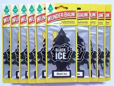 (1,28€/Einheit) 10 x WUNDER-BAUM® Black iCE Duft Auto Lufterfrischer Magic Tree - 3 Stück Office