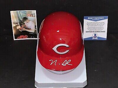Nick Senzel Cincinnati Reds Autographed Signed Mini Helmet Beckett COA 1 Cincinnati Reds Autographed Mini Helmet