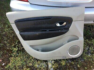 Renault Megane Scenic 2003-2009 Passenger NSR Rear Interior Door Handle Silver