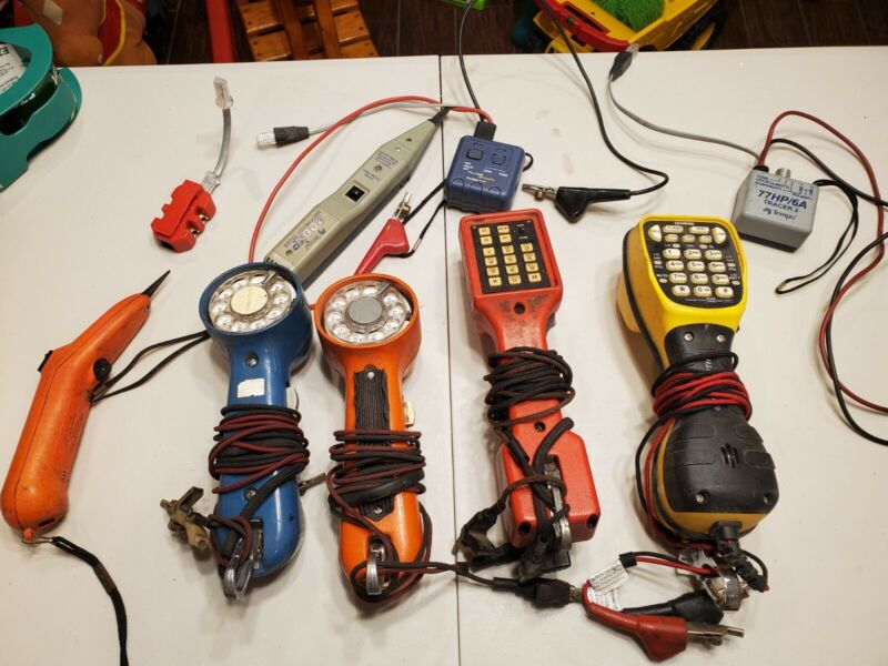 HARRIS TS44 Deluxe Telephone Lineman Buttset plus extras. UNTESTED!