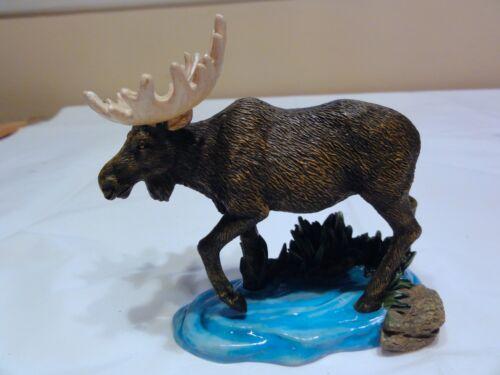 "Westland Wildlife "" Moose In Water "" Statue Numbered in Box"