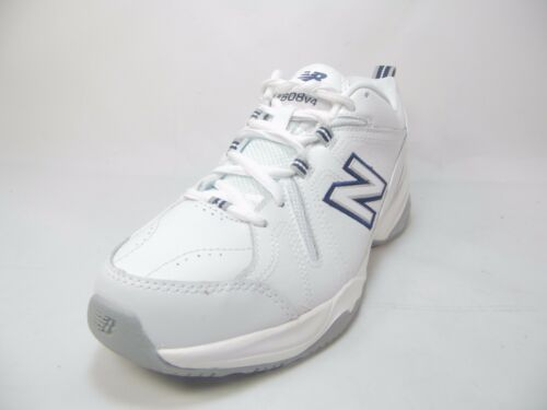 New Balance Women's WX608V4 Training Shoe,White/Navy,13 D US WX608V4-W