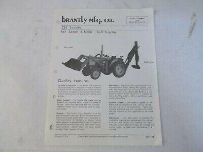 Brantly 534 Loader For Satoh S-630d Bull Tractor Brochure