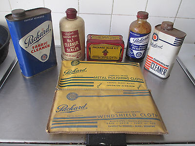 40s 50s PACKARD ALL MODELS ACCESSORY KIT 7 ITEM BULBS POLISH CAR CARE ALL UNUSED