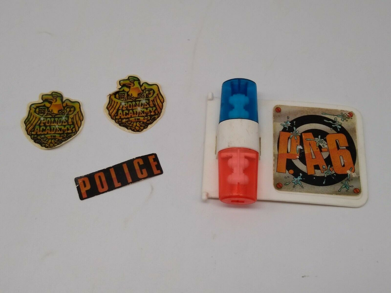 Vintage Police Academy Crazy Cruiser Siren Lights and Stickers