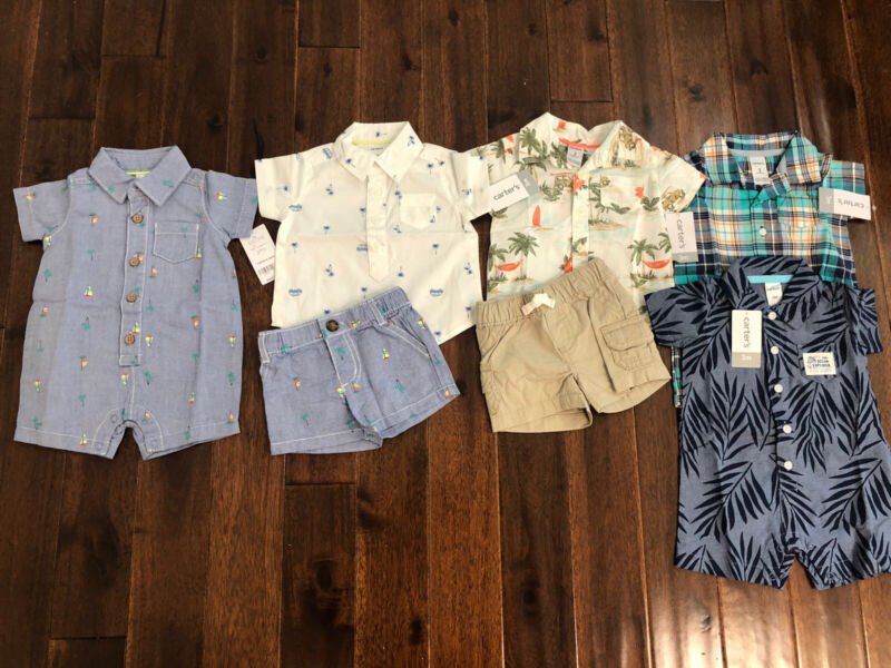 7 Piece Lot Of Baby Boy Spring/Summer Clothes Size 3 Months NWT