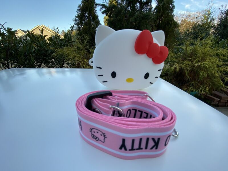 NEW Silicone Hello Kitty bag coin purse 4 kid w adjustable strap Cute US Seller
