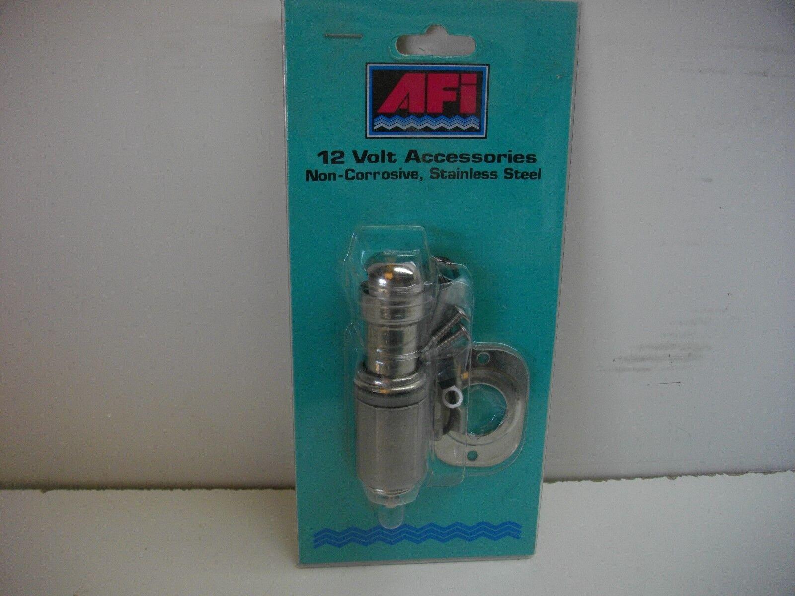 * AFI 20040 Boat Cigarette Lighter and Chart Light Stainless Steel Marine