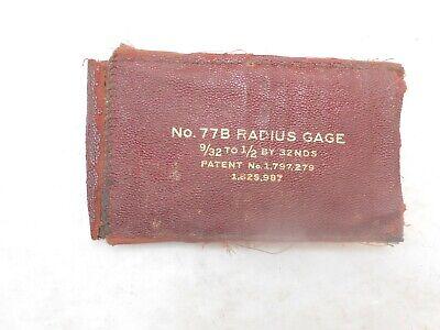 Radius Gage Set By Lufkin No. 77b