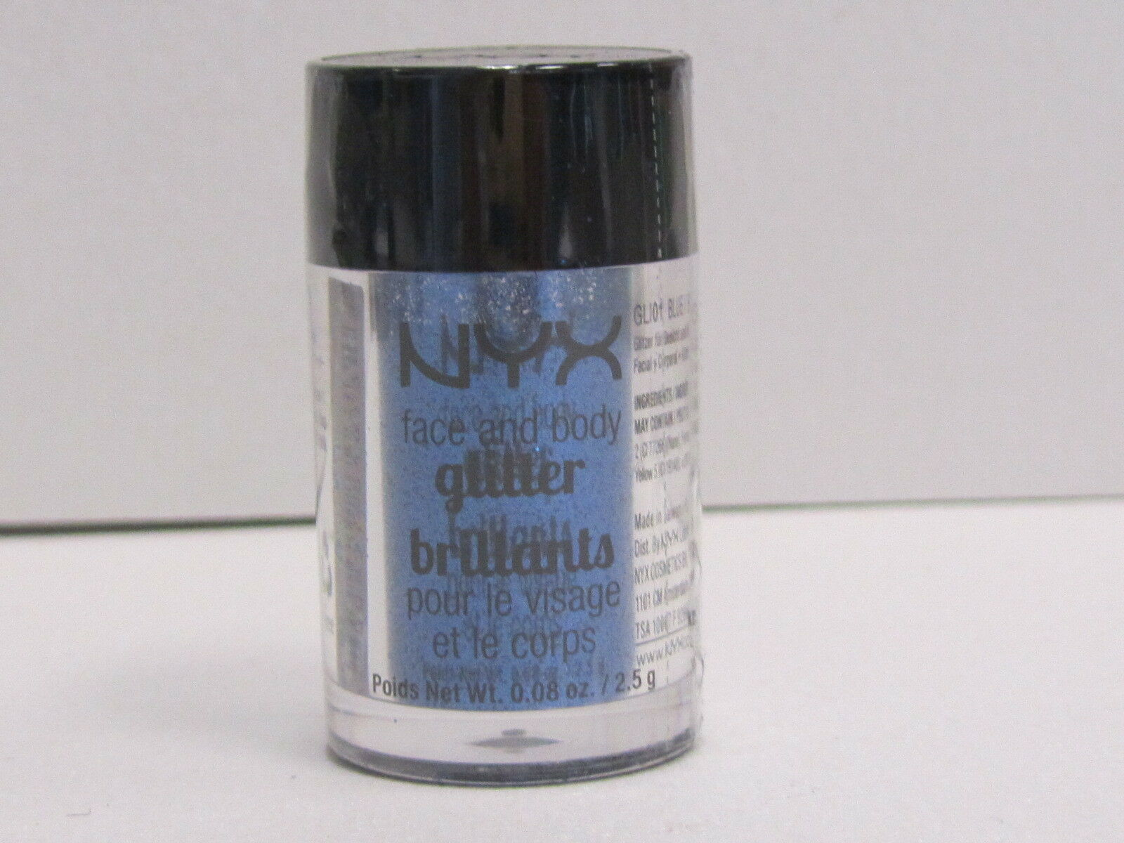 NYX Face and Body Glitter color GLI01 Blue 0.08 oz Brand New With Sealed