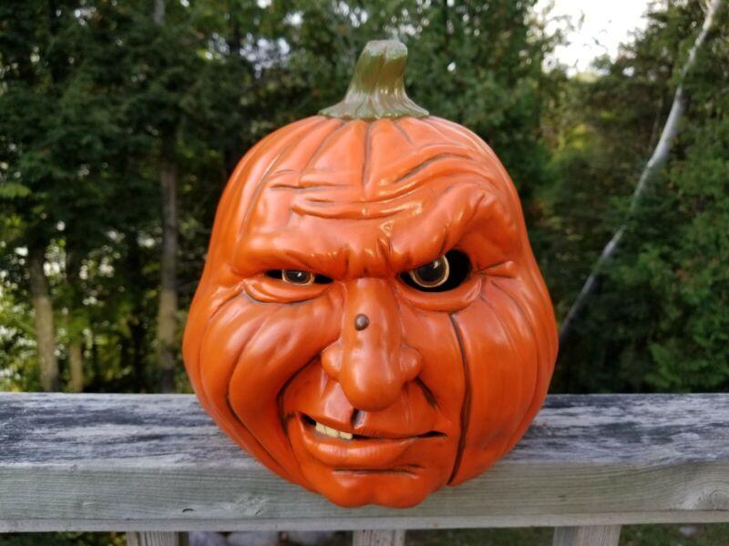 RARE *SCIOTO* Ceramic Mold Snarling Human Face HALLOWEEN Pumpkin/Jack-O-Lantern