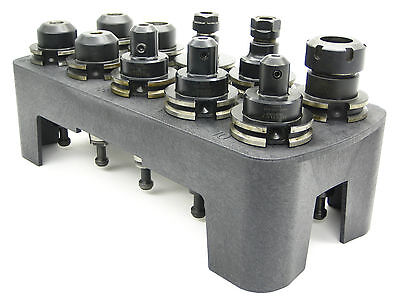 2 PACK,  TOOLHOLDER RACK THAT HOLDS 10 BT40 CAT40 NMBT40 CNC OR CONVENTIONAL