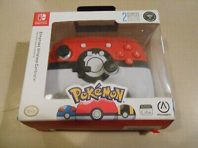 PowerA Nintendo Switch Enhanced Wireless Controller Pokemon Pokeball Red/White