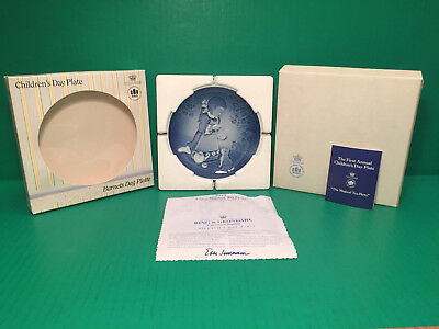 1985 B&G Bing &Grondahl CHILDRENS DAY PLATE First Edition Mint In Box COA DANISH