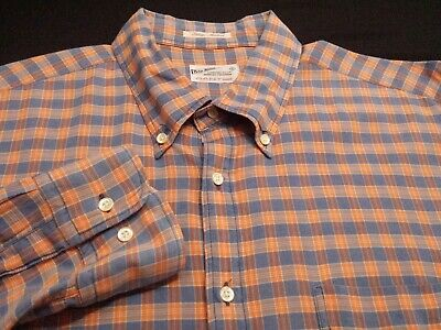 Gant Rugger Mens XL Long Sleeve Button-Down Multicolor Plaid Check Shirt