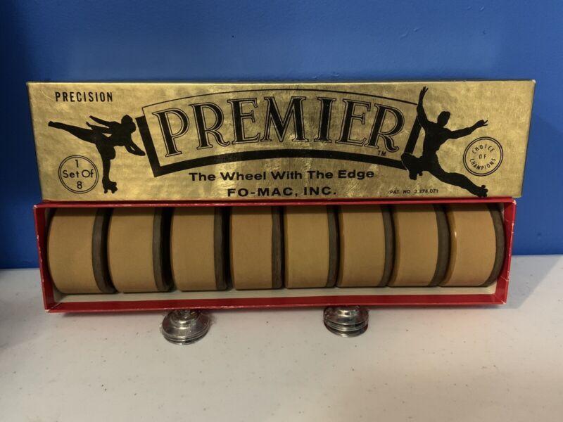 Vintage Premier Precision Skate Wheels Set Of 8 With Box