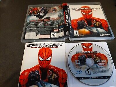 spider man web of shadows Ps3 complete nice free shipping