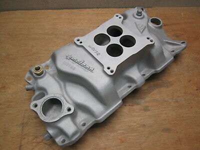 Say Why- And Vintage Weiand WCVSQ Intake Manifold Small Block Chevy Nostalgia