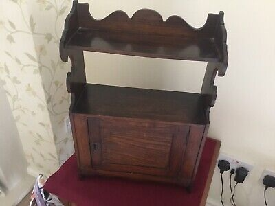 Vintage Wooden Cupboard Cabinet With Shelf