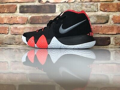 d254743dd18974 Nike Kyrie 4 Size 8 Basketball Shoes Black Dark Grey Crimson White  943806-005