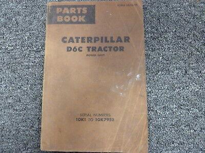 Caterpillar Cat D6c Power Sihft Crawler Tractor Parts Catalog Manual Book