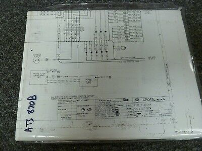 Grove Tts870b Truck Mounted Hydraulic Crane Electrical Wiring Diagram Manual