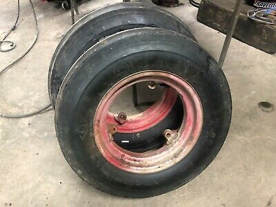 Farmall H Front 3 Loop Rims With Brand New Tires 6.00x16 Otani T22 6 Ply Tires