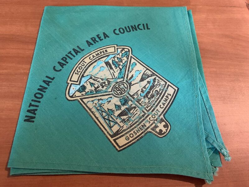 BSA, 1967 Scout Camper Neckerchief, Goshen Scout Camps, National Capital Area