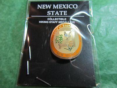 LAND OF ENCHANTMENT HIKING MEDALLION NEW MEXICO TRAVEL SOUVENIR-H43