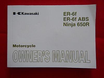 2010 KAWASAKI ER6F ABS NINJA 650R OWNERS MANUAL 99986-1581 2011 EX650CB EX650DB