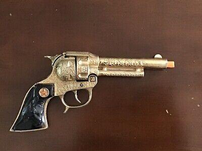Vintage 1950's Hubley Texan Jr Gold Cap Gun