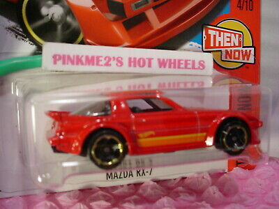 MAZDA RX-7✰Kmart Exclusive RED;yellow/orange; mc5✰THEN AND NOW✰2017 Hot Wheels Q