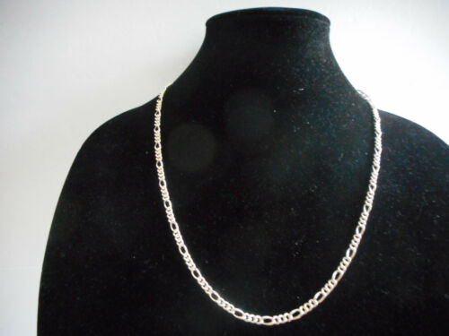 """NWT Sterling Silver Figaro Chain Necklace – 4mm, 24"""""""