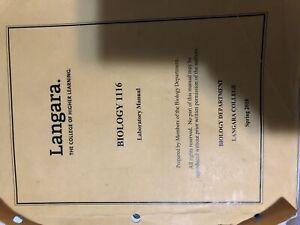 Biology 1116 Lab Manual