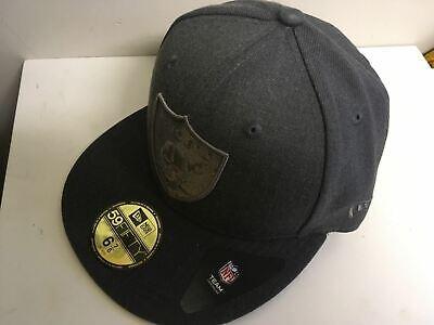 NEW ERA OFFICIAL OAKLAND RAIDERS TONAL GRAPHITE Baseball Cap * 6 7/8 Small