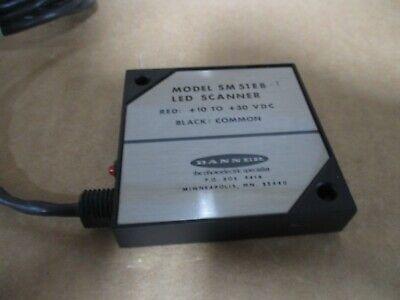 LOT OF 3 NOS BANNER SM51E LED SCANNER PHOTO ELECTRIC EMITTER # 1121135B -