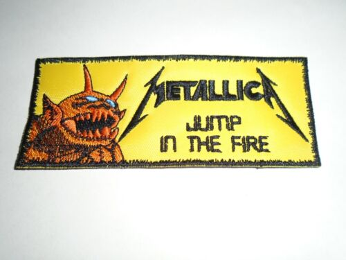METALLICA JUMP IN THE FIRE EMBROIDERED PATCH