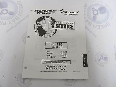 438172 OMC Evinrude Johnson 90-115 HP Outboard Parts Catalog -